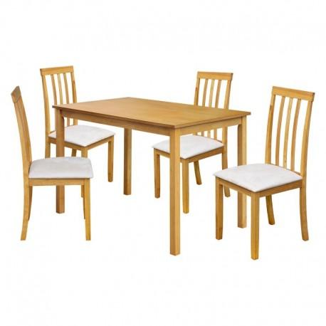 Stůl + 4 židle MALAGA lak javor
